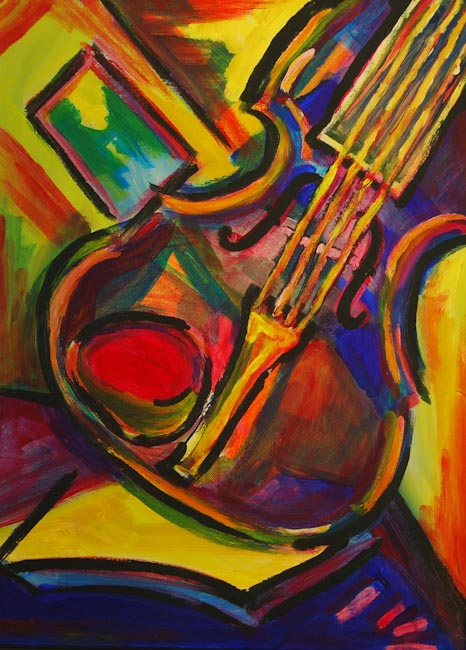 expressionist violin, by Steve Johnson